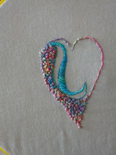 french knot embroidery heart