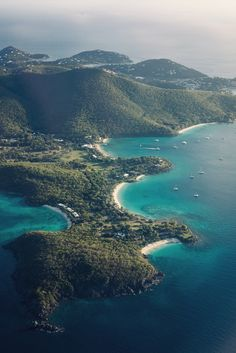 Tortola, British Virgin Islands ~ I remember this view as I flew over the island in a 6-seater 'puddle-jumper' the day I arrived!!  <3