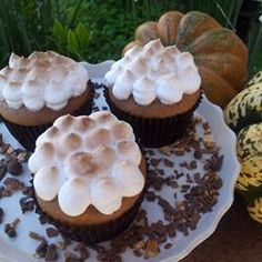 Sweet Potato Cupcakes with Toasted Marshmallow Frosting More