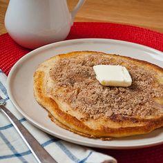 cinnamon streusel pancakes. breakfast will never be the same
