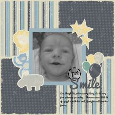 1st Smile ~ Rugged Baby Boy ~ Creative Memories