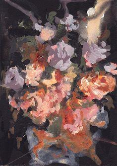 Wildflowers . original painting by ClareElsaesser on Etsy