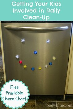 Getting your kids involved with daily clean-up {free printable chore chart!)