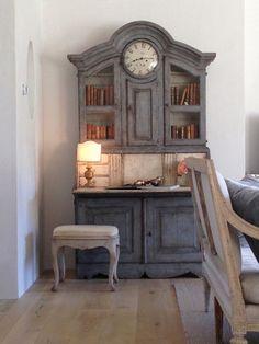 stylish patina, chalk paint, annie sloan, buy chalk paint online www.stylishpatinashop.com Antique Swedish Cabinet in the Living Room. #patinafarm