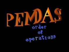 PEMDAS SONG  (with lesson) order of operations!