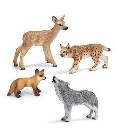 Love this Forest Figurine II Set on #zulily! #zulilyfinds