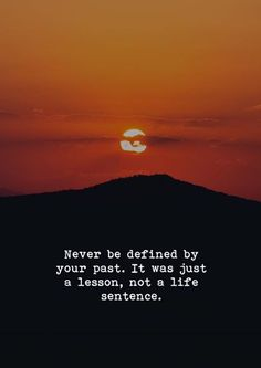 Never be defined by