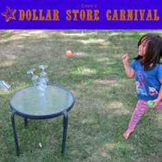 Create Your Own Carnival with Dollar Store Items