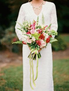 Pink and green bridal bouquet | JoPhoto | see more on: http://burnettsboards.com/2014/10/lilly-pulitzer-wedding-styles/