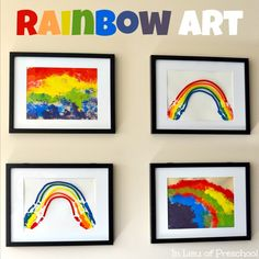 Handprint Rainbow Art