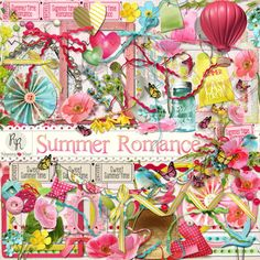 A sweet pastel summertime themed scrapbook kit from Raspberry Road Designs.