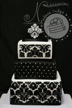Black  White Damask Wedding