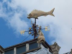 Old weather vane -- fish market building in London