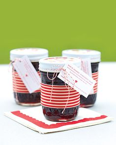 Homemade Jam Wedding Favors - in honor of grandma