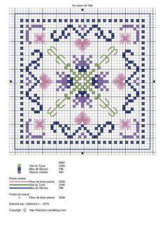 , crossstitch, biscornu pattern