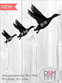 Flying ducks, chalkboards wall mounted by D&M made with love