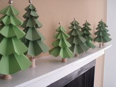 christmas crafts, little crafts, paper christma, christma tree, tree crafts, christma craft, paper trees, christmas trees, craft paper