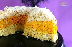 Candy Corn Cereal Treat Cake