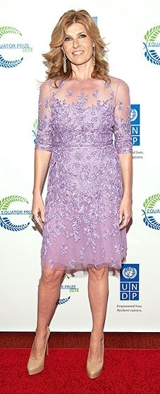 Connie Britton opts for a soft lavender Naeem Khan dress for The United Nations 2014 Equator Prize Gala