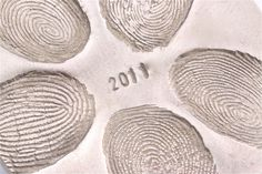 Make your own family fingerprint ornament: 2 cups flour, 1 cup salt, cold water. Mix until it has consistency of play dough. Bake at 250 for 2 hours, then cool and spray with metallic paint.