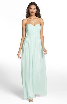 Donna Morgan 'Laura' Ruched Sweetheart Silk Chiffon Gown   Nordstrom
