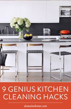 9 GENIUS Kitchen Cleaning Hacks You Need to Know #kitchen #cleaning #hacks