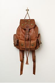 Distressed leather backpack, Free People