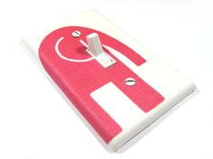Light Switch Cover Bright Hot Pink and White Elephant Girls Nursery Decor Switch Plate Lightswitch 900. $8.00, via Etsy.
