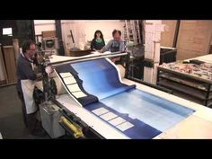 Tom Hammick makes a monoprint at Thumbprint Studios