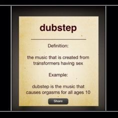 Dubstep, because it's automatically nerdy.