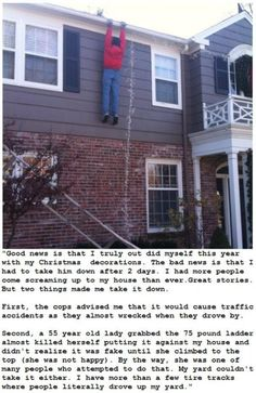 Christmas Decoration, not a real man.
