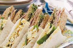 Ham and Tewkesbury butter sandwiches recipe - goodtoknow