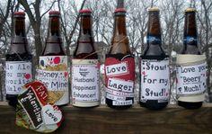 Make valentine beer labels for your man