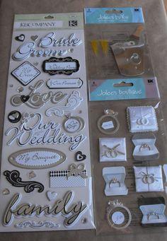 Wedding Scrapbook stickers by Jolees Bride by ThePaperPeddler, $8.00