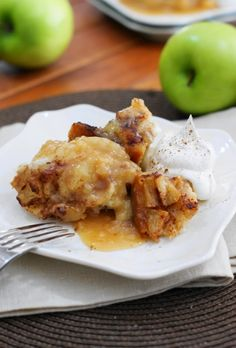 Slow Cooker Apple Pudding Cake ~ tender cake with an apple pudding-like sauce, baked up with the convenience of your slow cooker crockpot.   www.thekitchenismyplayground.com
