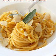 Spaghetti with Creamy Butternut Leek Parmesan Sauce Recipe - ZipList