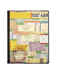 A must for all of those concert stubs.