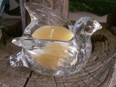Vintage Avon Crystal Dove Candle Holder