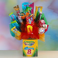 Colorful Crayon Candy Bouquet