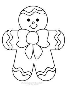 christmas templates, templat christma, button match, man button, gingerbread man template