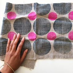 Block Printing on Fabric Classes | Jen Hewett, printmaker, surface designer, textile artist