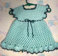 Crochet Baby Dress - Solomon's Knot - YouTube