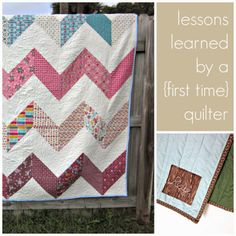 Lessons leaned by a first time quilter.