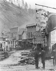 Deadwood 1877, Lee Street merchant signs, Lee Street Blacksmith James Langan Colorado Blacksmith May 19, 1877