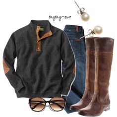 cute and comfy. Need that sweater!