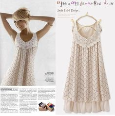 Layered Lace Dress = Lace (for neckline) + light fabric + eyelet fabric + ribbon + sewing machine