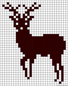 Deer perler bead pattern