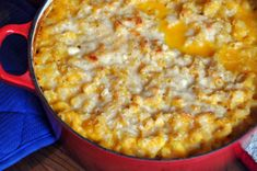 Healthy Macaroni & Cheese with Butternut Squash and Cauliflower.  Great comfort food for the cool evenings of fall!