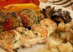 Grilled Mushrooms And Shrimp A La Grecque Lemony Grilled Mushrooms and Shrimp make a quick delicious meal