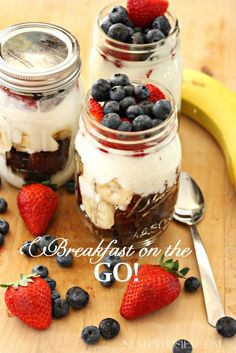 Breakfast on the Go! Zucchini Bread Parfaits. A healthy, quick, grab & go meal for the kids and you.
